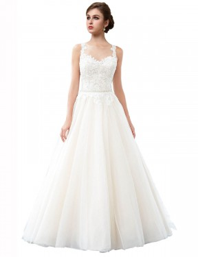 Cheap Ivory Cathedral Train Long Tulle Raegan Wedding Dress Montreal