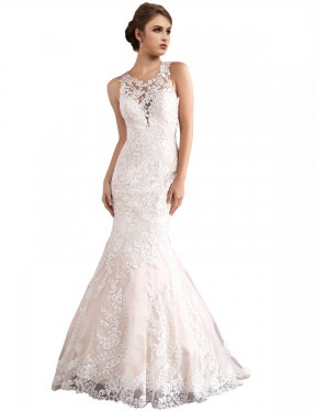 Cheap Ivory & Champagne Cathedral Train Long Tulle Amiyah Wedding Dress Montreal