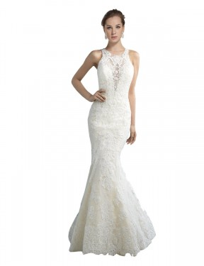 Cheap Ivory Chapel Train Long Tulle Lucille Wedding Dress Montreal