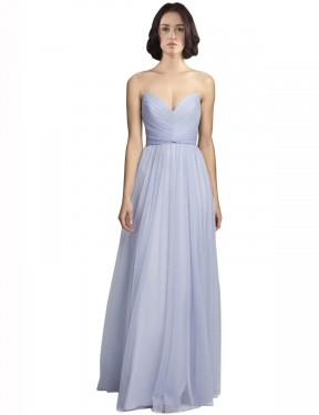 Cheap Lilac Floor Length Long Tulle Roselyn Bridesmaid Dress Montreal