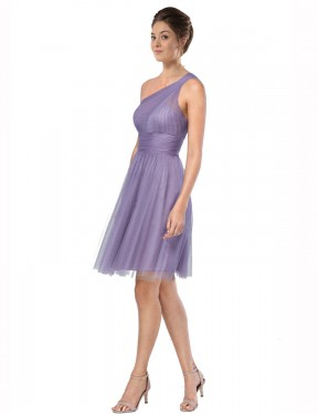 Cheap Watermelon Knee Length Short Tulle Alessia Bridesmaid Dress Montreal